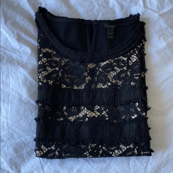 J. Crew Tops - J. Crew new without tags sleeveless lace black top